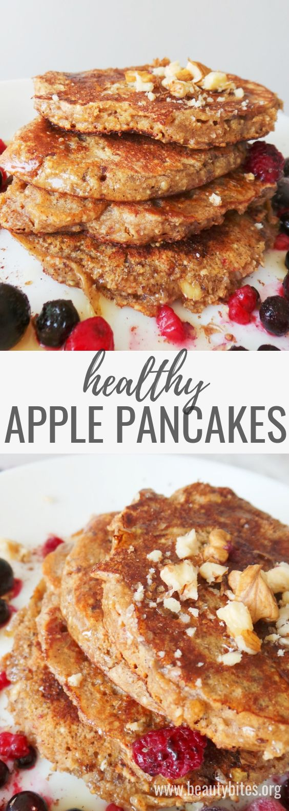 APPLE PANCAKES WITH OATS – HEALTHY & EASY BREAKFAST RECIPE