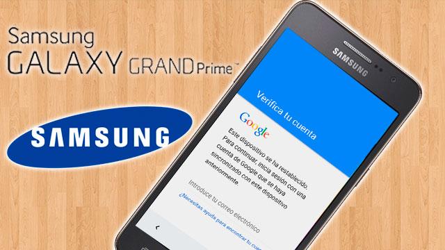 quitar cuenta de Google Samsung Galaxy Grand Prime