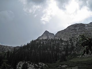 Vestal Peak in the rain