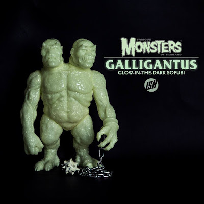 Galligantus Make-A-Monster Edition Glow in the Dark Vinyl Figure by Justin Ishmael x Famous Monsters of Filmland