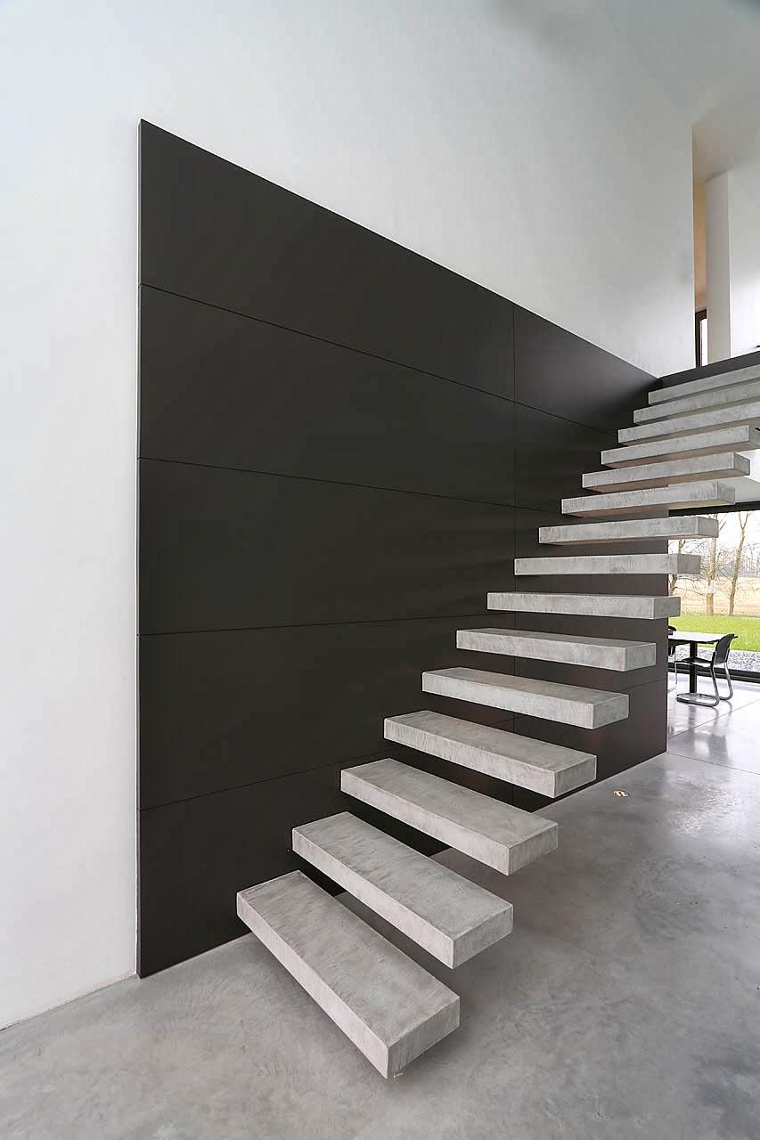 escalier suspendu monolith marche en b ton cir marches en r sine d. Black Bedroom Furniture Sets. Home Design Ideas