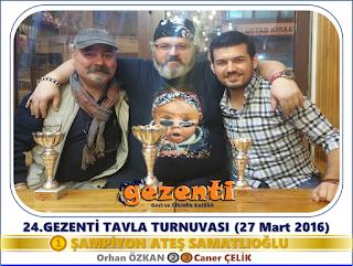 24.Gezenti Tavla Turnvuası