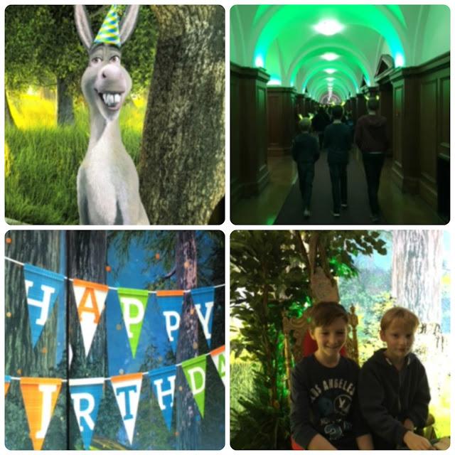 Shrek's Adventure birthday party