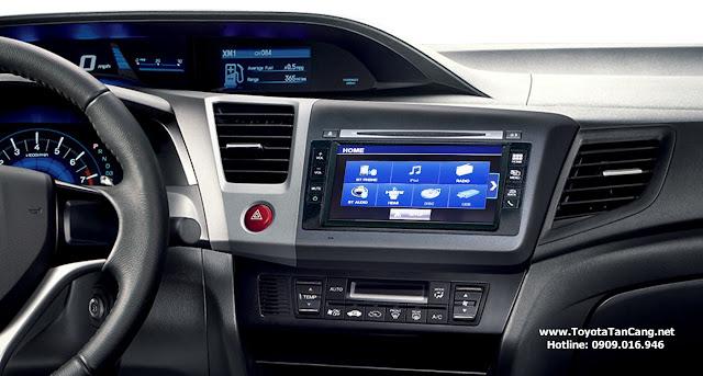 Civic trang bị đầu đĩa DVD 6 loa, kết nối Bluetooth, HDMI