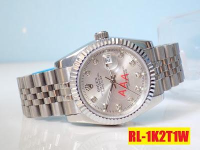 Đồng hồ nam dây inox trắng RL 1K2T1W
