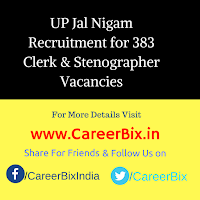 UP Jal Nigam Recruitment for 383 Clerk & Stenographer Vacancies