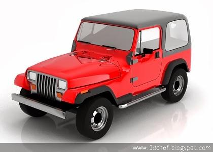 free 3d model jeep