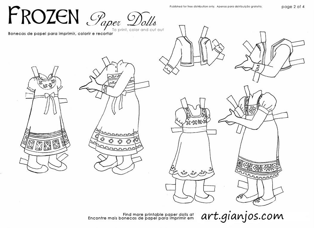 De Colorir!: Frozen: Bonecas De Papel