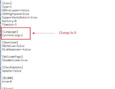 Rubah Bahasa SP Tools Fastboot ROM