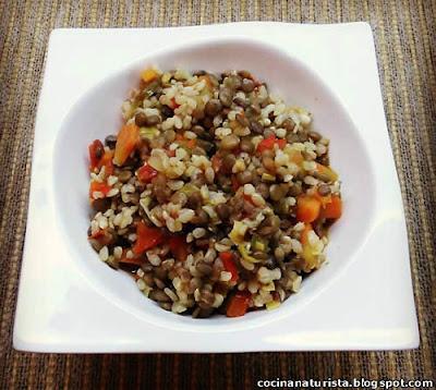 cocina naturista,comida saludable,guiso natural,legumbre,cereal,