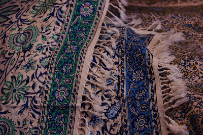 The floral motifs on Ghalamkar textiles of Isfahan.