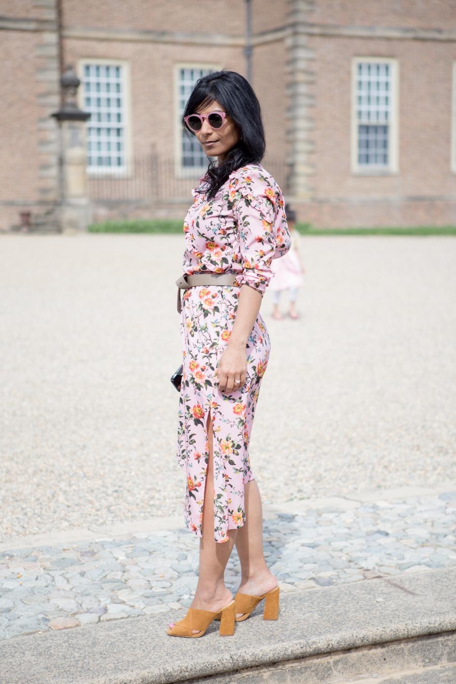 Spring Dress Floral Midi