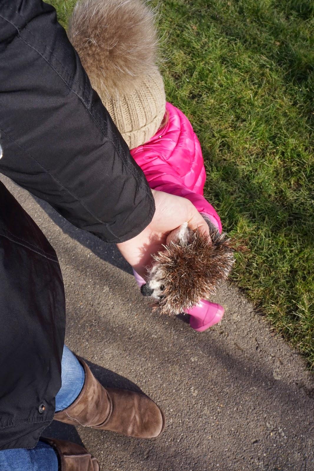 toddler's hedgehog mittens