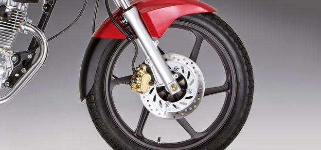 Honda CB125E: Rueda, Freno