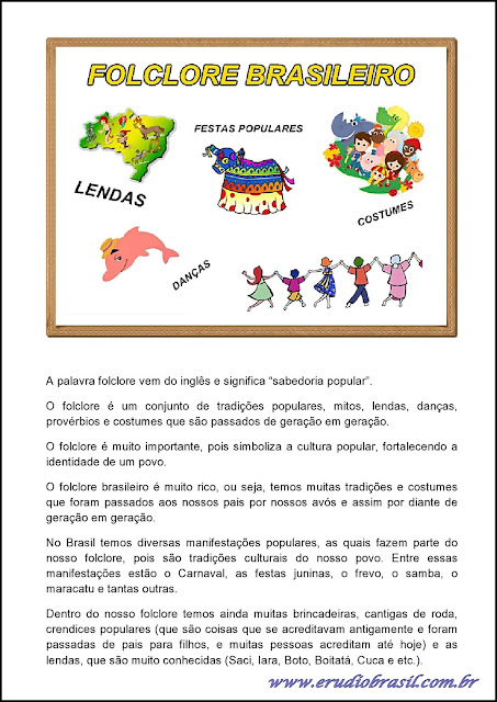 texto informativo sobre folclore para imprimir