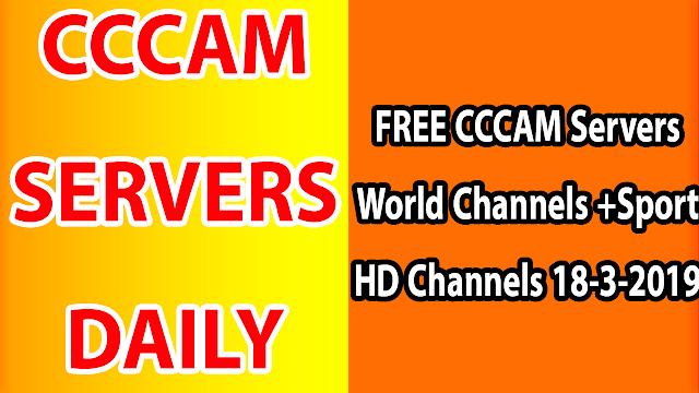 FREE CCCAM Servers World Channels +Sport HD Channels 18-3-2019