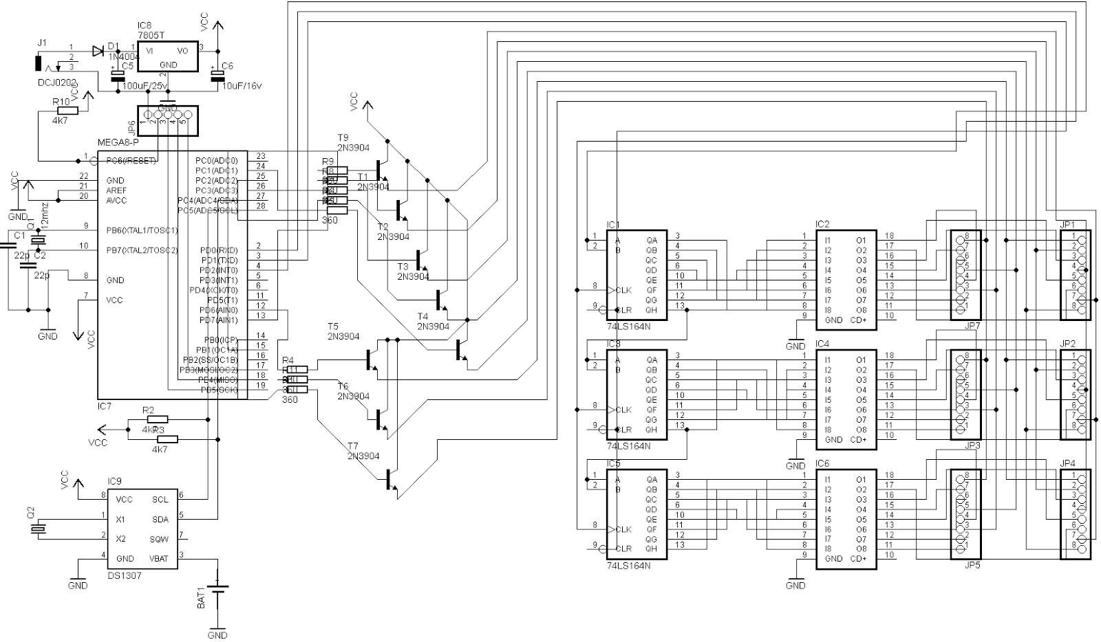 .: Membuat Rangkaian Running Text Dengan Dotmatrix 8x8 Dan