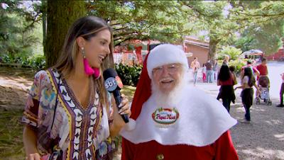 A apresentadora conhece a Aldeia do Papai Noel (Divulgação/SBT)