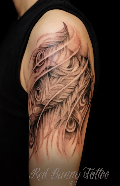 tattoo phoenix feather タトゥー 鳳凰 羽