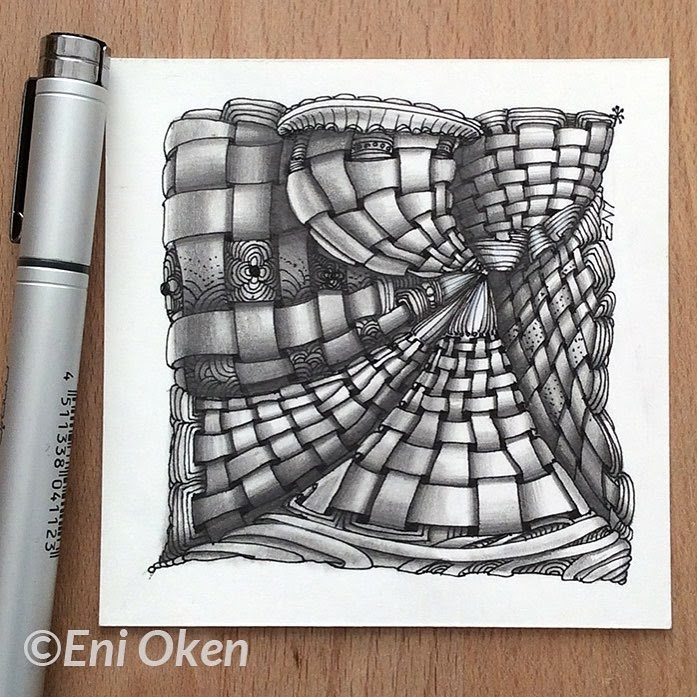 03-Tapestry-Eni-Oken-Color-and-Black-and-White-Zentangle-Drawings-www-designstack-co
