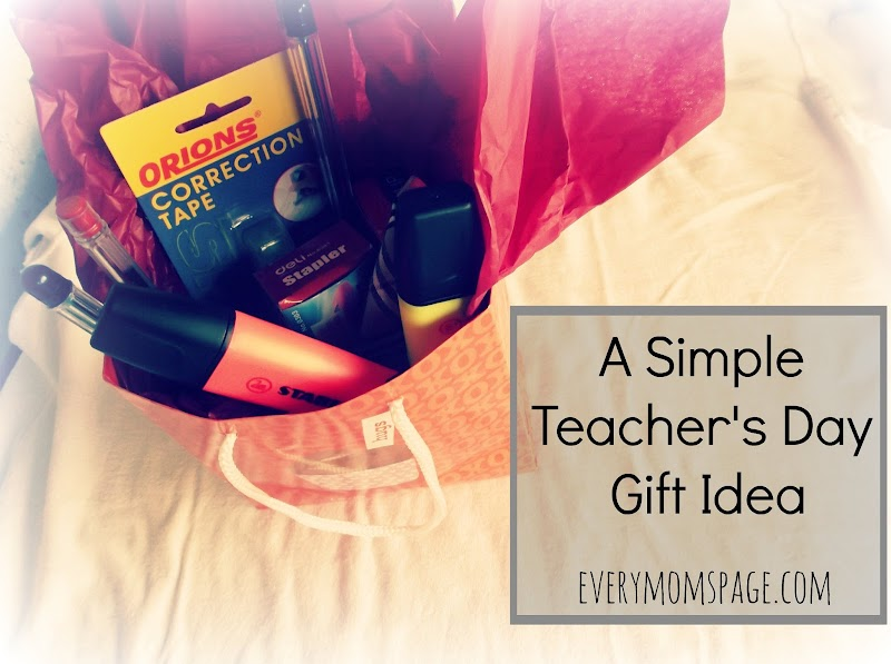 A Simple Teachers' Day Gift Idea