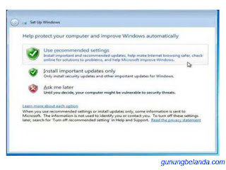Tips Setelah Instal Windows 7 - Jagan Lupaya di Turn Off