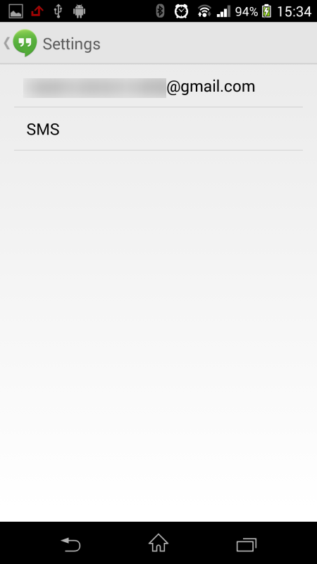 A Programmer's Day: Incoming SMS Receivers Stop Work Google Hangouts