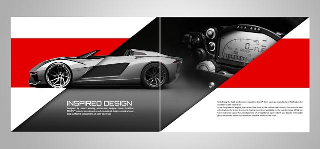 in catalogue quảng cáo xe hơi