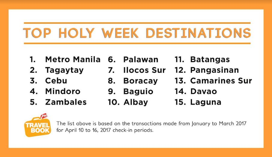 Top 15 Holy Week Destinations in the Philippines This 2017