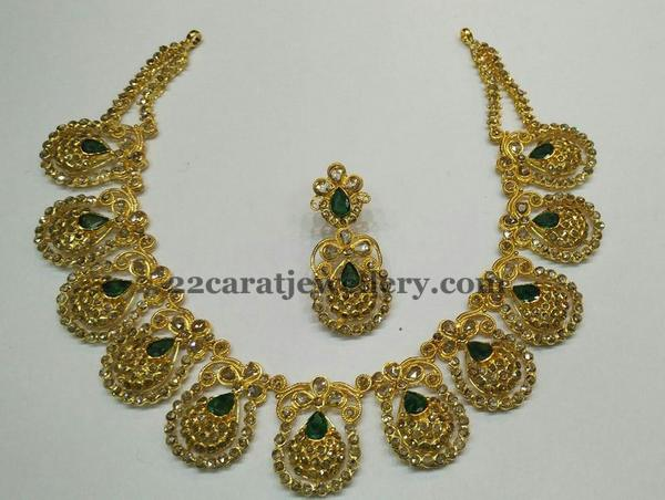 Uncut Diamond Choker Emeralds
