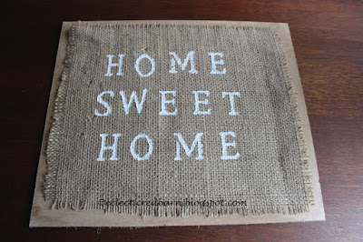 Eclectic Red Barn:Painted grain sack sign