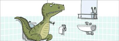 Lustige Comic Bilder - Fluch - zu kurze Arme auf dem Klo