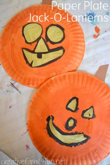 Creative Family Fun: Paper Plate Jack-O-Lanterns