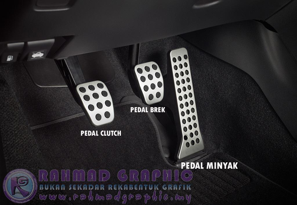 Kenali Pedal minyak, brek, clutch