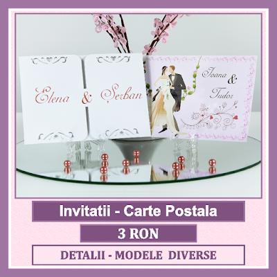 http://www.bebestudio11.com/2017/01/invitatii-nunta-carte-postala.html