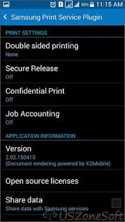 Samsung Print Service Plug-In helps to print photos, web pages and any documents from Android phone to printers via wireless connection. Here download latest version. Samsung Print Service Plugin APK free download, Samsung Print Service Plugin APK settings, options.