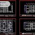 مخطط مشروع عمارة سكنية 3 طوابق مخططات كاملة اوتوكاد dwg