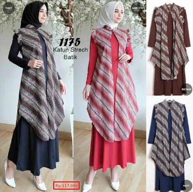 10 Model Baju Batik Muslim Atasan Wanita Terbaru 2018: 77 Model Baju Batik Muslim 2019: Modern Terbaru Remaja