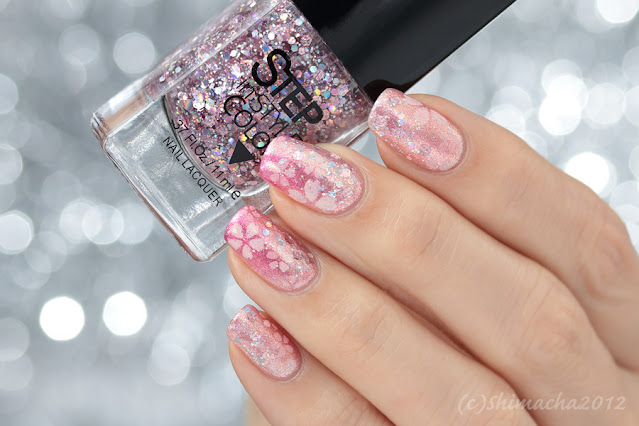 cherry blossom nails, 桜ネイル, Dance Legend step, nail art, ダンスレジェンド ネイル