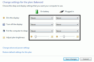 change advanced power setting