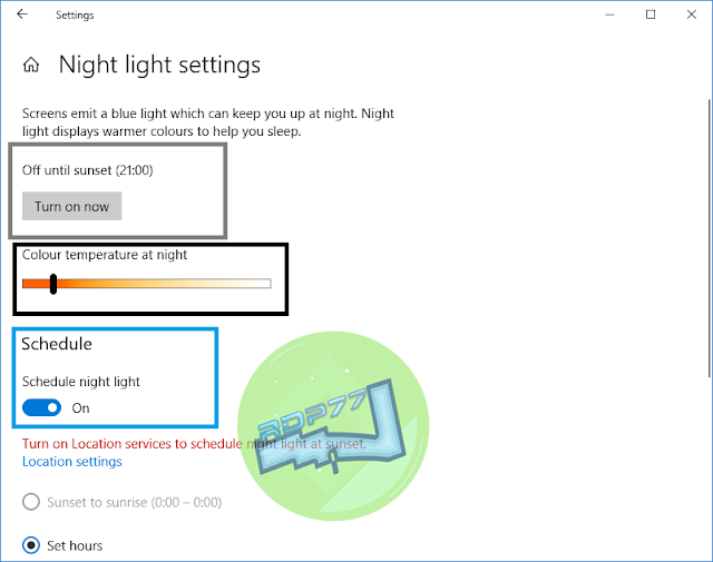 Cara Mengaktifkan Mode Malam Atau Night Light Pada Windows 10