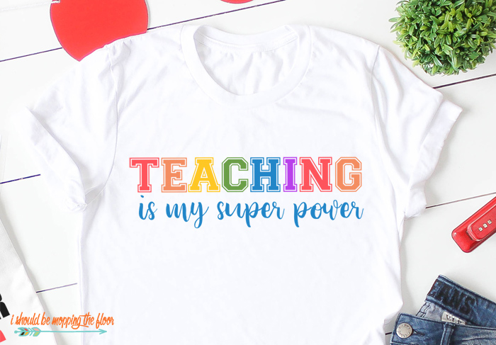 Teaching is My Super Power Cut File