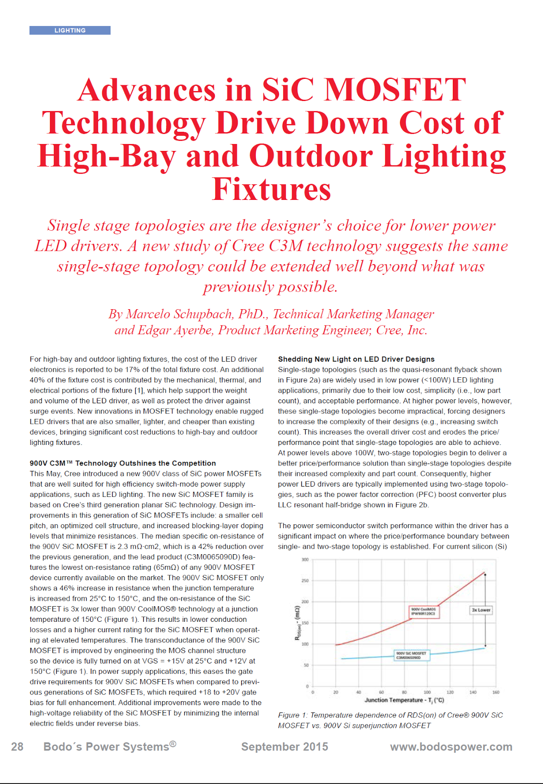 Power Electronics Electrnica De Potencia Leistungselektronik S1600 Surgeprotectedleddrivercircuittransformerlesspng Advances In Sic Mosfet Technology Drive Down Cost Of High Bay And Outdoor Lighting Fixtures By Marcelo Schupbach Phd Technical Marketing Manager