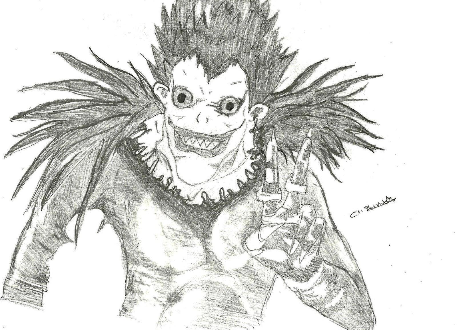 Dibujo De Ryuk De Death Note Manga Para Colorear Dibujos