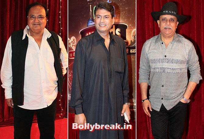 Rakesh Bedi, Kanwaljeet Singh and Rajesh Puri on Indian Tele Awards 2013 Red carpet, Indian Tele Awards 2013 red Carpet Pictures - ITA - Lauren Gottlieb, Mouni Roy, Ratan Rajput