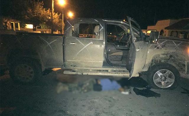 Fotografías; Convoy de 10 camionetas del CDG se enfrentan con militares en Tamaulipas con saldo de 4 sicarios abatidos