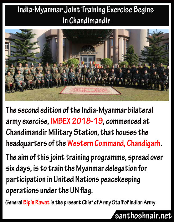 India-Myanmar joint training exercise begins in Chandimandir