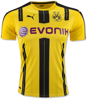 Jersey Borussia Dortmund Home 2016-2017 Terbaru