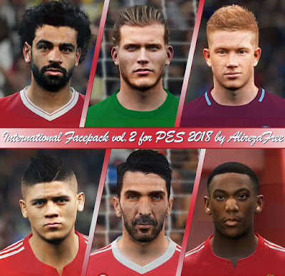 PES 2018 International Facepack v2 by Alireza Free