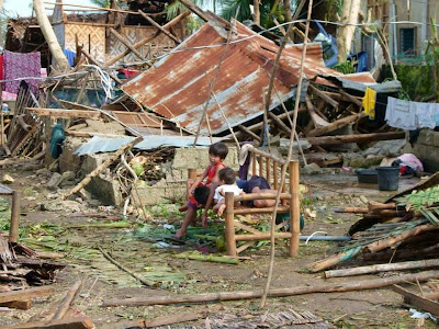 children rendered homeless by Yolanda